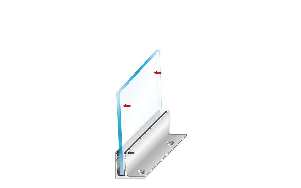 Glass railing Balardo Wave from Glassline - mounting step 5