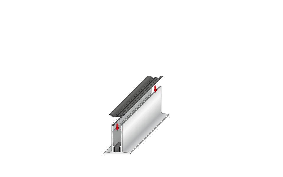 Wind- und Sichtschutz Davento von Glassline - Einsetzen des Klemmschuhs