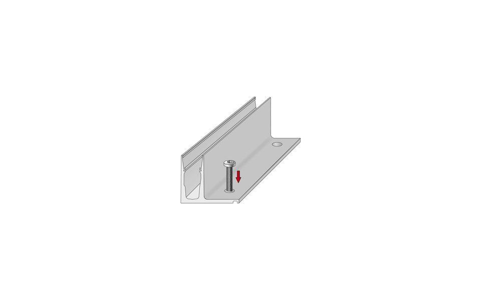 Glassline Ganzglasgeländer BALARDO hybrid Montage Step 1