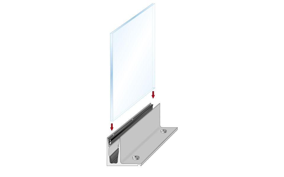 Glassline Ganzglasgeländer BALARDO hybrid Montage Step 4