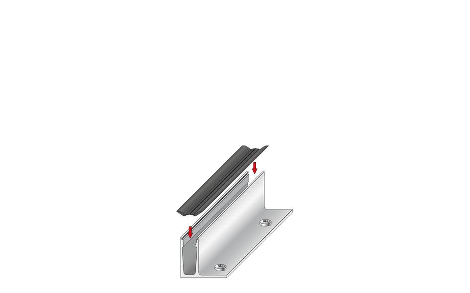 Plafondhoge beglazing Balardo Glasswall van GLASSLINE - Montage-Step 3