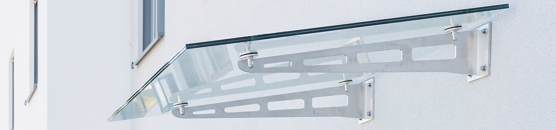 Glasvordach Canopy Blade - Das Vordach aus Glas für ...
