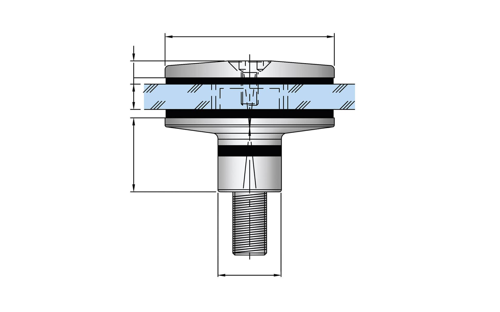 Tellerhalter und Senkkopfhalter – mit AbZ und Glastypenstatik
